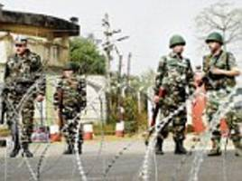 'it had been brushed under the carpet': army report warns that nagrota, uri and pathankot terrorists would have had 'inside support' and orders all formations to tighten border security over 'sleeper cell' fears on home soil