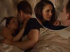 meghan markle strips to her underwear for a very racy bedroom scene in suits