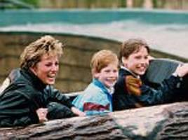 letters from princess diana reveal how prince william 'adored' harry