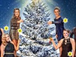 team gb hockey stars are top of the tree as they pose for sportsmail's christmas picture