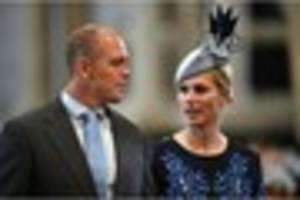 queen's granddaughter zara and former england rugby player mike...