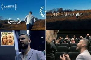 romantic boyfriend surprises girlfriend by proposing with movie trailer - at their local cinema