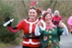 santas ditch their sleighs for llanelli coast parkrun