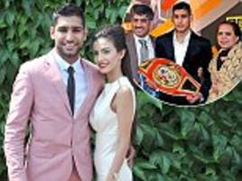 britain's most toxic family feud! olympic boxing hero amir khan's model wife is locked in a vicious war of words with her strict muslim in-laws. here, she gives a first interview - and the gloves really do come off