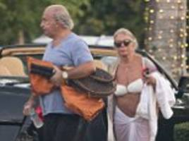 no new year barbados bash this time... but shed no tears for sir shifty: philip green is living it up in a £17,000-a-week miami mansion, driving a bentley and flaunting his £320 louis vuitton tennis racket covers