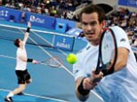 andy murray beaten in straight sets by david goffin at mubadala world tennis championship in abu dhabi