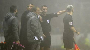 fog causes reading v fulham to be abandoned