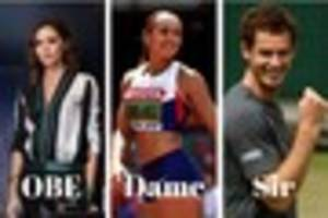 famous faces awarded in queen's new year's honours