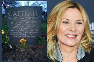 kim cattrall 'can't bagsy a grave' by putting her name on it: sex and the city's cousin blasts star in bitter row