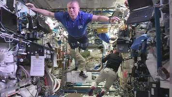 spaced out: space station crew 'freeze' for the mannequin challenge