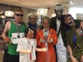stag party shocks onlookers by dressing up as jimmy savile, rolf harris and oscar pistorius