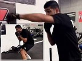 amir khan displays his speed and skill on instagram as training continues ahead of potential fight with kell brook