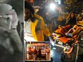 gunman opens fire on istanbul mosque just hours after 'santa claus' terrorists was caught on cctv stalking nightclub as he killed 39 and injured 69