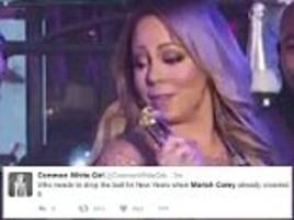 'isis claims responsibility for mariah carey's performance': social media mercilessly trashes diva for her epic new year's eve meltdown on times square stage