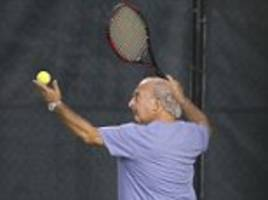 sir philip green enjoys tennis as he lives it up in £17,000-a-week miami mansion