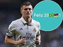 toni kroos causes a stir after cryptic new year message pokes fun at 7-1 thrashing of brazil at 2014 world cup