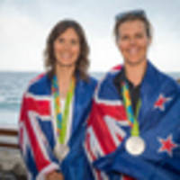 olympic yachting golden girls aleh and powrie take a break...how long will it last?
