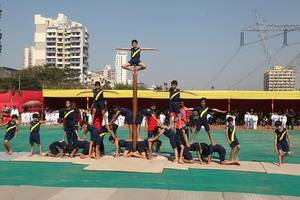 euroschool airoli students celebrate sports day with fascinating performance in mallakhamba and ice skating