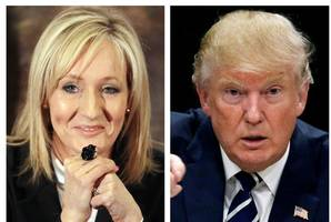 jk rowling lays into 'bigot' trump, calls for defence of truth against lies
