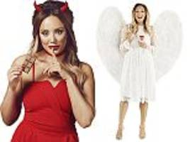 charlotte crosby dresses up in a devil costume for harley's
