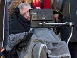 stephen hawking heads to see the new star wars film to mark his 75th birthday