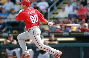 phillies catching prospect andrew knapp caught in middle of logjam