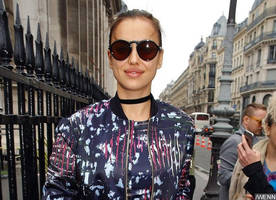 irina shayk flaunts prominent baby bump during outing