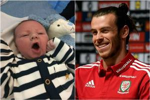 meet bale lucius perry - the first baby to be directly named after wales and real madrid superstar