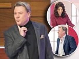 'we're not that kind of show': ed balls shocks the loose women with a very rude joke about having a fluffer to prepare him for his appearance
