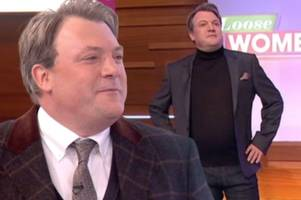 ed balls labeled 'stud muffin' as he reveals two dramatic makeovers on loose women