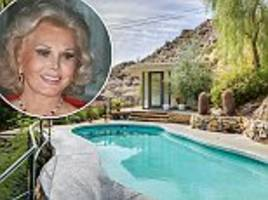 zsa zsa gabor's former palm springs getaway is for sale for almost $1million