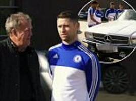 jeremy clarkson dupes chelsea players after attempting to impress in mercedes hybrid