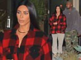kim kardashian looks downcast with kanye west in beverly hills