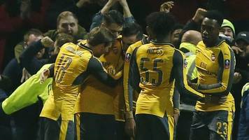 fa cup: preston north end 1-2 arsenal highlights