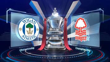 fa cup: wigan athletic 2-0 nottingham forest highlights