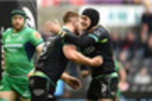 ospreys 29 connacht 7: tandy's men go top of pro12 with...