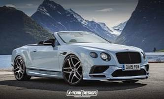 bentley continental gt supersports convertible rendered into reality
