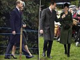 Thrifty Kate strikes again! Duchess of Cambridge recycles her VERY pricey £1500 coat as she joins sister Pippa, Prince William and the Queen at Sandringham