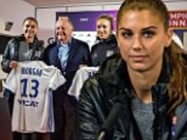 alex morgan fulfils european ambition with world cup winner joining lyon