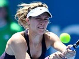 eugenie bouchard makes most of wildcard entry to win first round match at the sydney international
