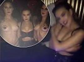 little mix's perrie edwards performs sexy lapdance for clubber during wild night out