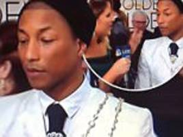 golden globes 2017: pharrell williams unimpressed after jenna bush hager interview blunder