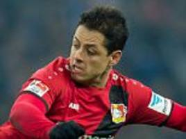 javier hernandez keen to stay at bayer leverkusen despite talk of £21m move in january: 'i feel good and i'm happy'