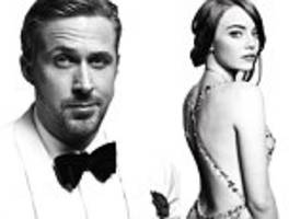 emma stone and ryan gosling pose for official awards show photos in stunning portfolio