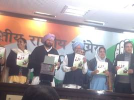Congress releases its manifesto for upcoming Punjab Assembly polls