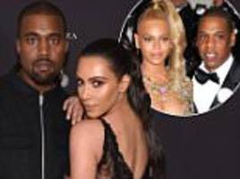 Kim Kardashian and Kanye 'make up with Beyonce and Jay Z' following West's tirade against Tidal honcho for 'not supporting him'