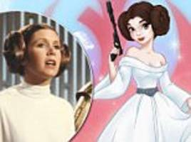 star wars fans petition to make carrie fisher's character a disney princess