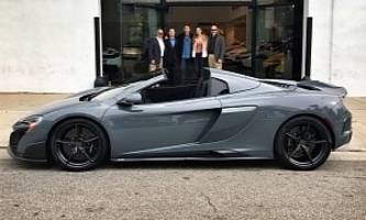 jenson button's birthday present has arrived: behold his mclaren 675lt spider