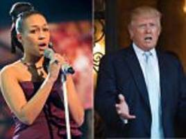 Singer Rebecca Ferguson PULLS OUT of performance at Trump's inauguration in feud over her decision to sing anti-lynching protest song