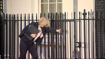 home secretary amber rudd's heel gets stuck in downing st